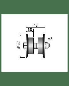 2 - Laufrolle Nr.7 für Normstahl Schwingtor SWT bis 3000 mm Breite ab Baujahr 1973