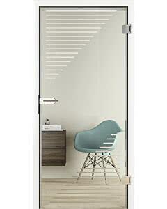 Hörmann Ganzglas Innentüren Glassline Glasart ESG Clear mit technischer Sandstrahlung, CleanEasy-Nanobeschichtung weitere Motive