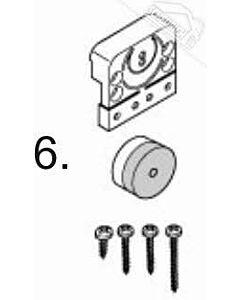 6 - Magnethalter-Set für Normstahl Noblesse 400 und Noblesse 800 Schiebetorantrieb