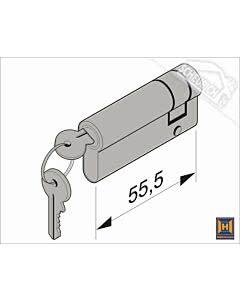 Hörmann Profil-Halbzylinder, 45,5 + 10 mm für Industrie-Sektionaltor (Ersatzteile Tore)