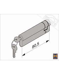 Hörmann Profil-Halbzylinder, 70,5 + 10 mm für Industrie-Sektionaltor (Ersatzteile Tore)