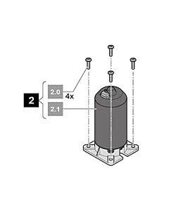 2. Sommer Motor, inkl. Befestigungsschrauben, RUNner