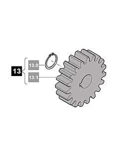 13. Sommer Zahnrad, Modul 4, 19 Zähne inkl. Springring, RUNner
