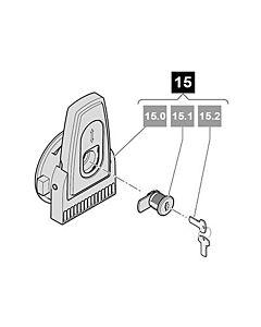 15. Sommer Notentriegelung, komplett; inkl. 2 Schlüssel, RUNner