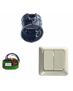 Sommer Funkinnentaster mit Unterputzdose und Taster (2-Befehl)