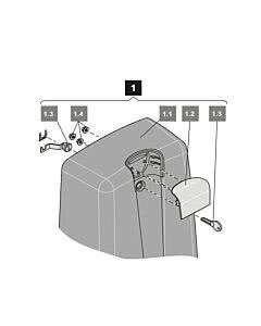 1. Sommer Abdeckhaube gator, anthrazit, incl. Griff und Hebelschloss, gator 400, SG 1