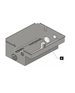 4. Sommer Gehäuse jive 200, Edelstahl, Ersatzteilbaugruppe (Ersatzteile Torantriebe)