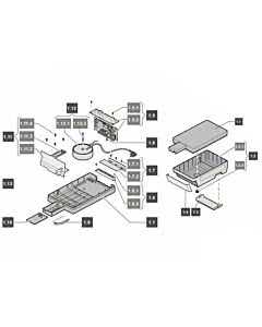 1. Steuerungsgehäuse tiga SLX, komplett, tiga 800 SLX (TORANTRIEBE)