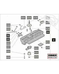 2. Sommer Laufwagen 1100N komplett für Antriebe o. Kettenk,marathon 1100 SL (TORANTRIEBE)