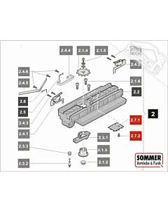 2.7 Sommer Laufwagenplatine SET, Motor 500-650N sprint 550 S, SL (TORANTRIEBE)