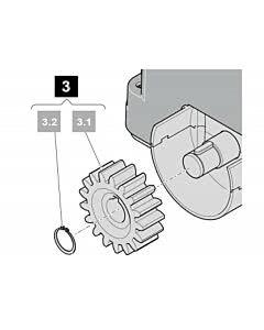 14. Zahnradmodul inkl. Springring für STArter