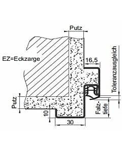 Teckentrup Edelstahl Eckzarge für Mauerwerk 1-teilig