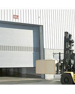Teckentrup Industrie Rolltor ThermoTeck, Bild ist beispielhaft und zeigt Tor mit Verglasung