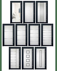 TorOne HTG90 Ganzglas Aluminium Haustür  - Wählen Sie Ihr Glas Motiv
