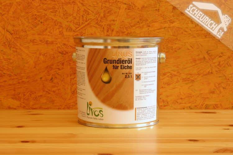 Livos 233 LINUS - Grundieröl, 10 Liter