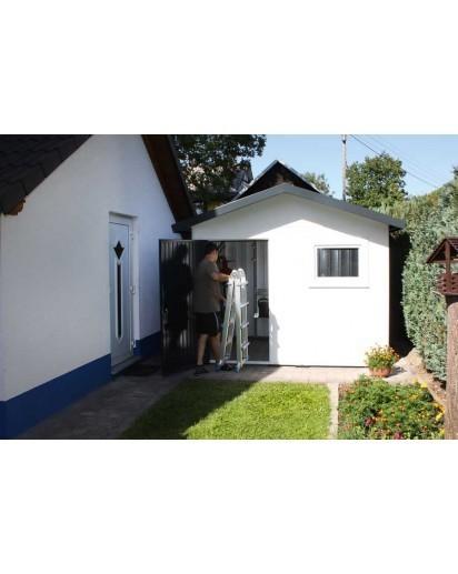 Siebau SGH Gartenhaus Metall Gerätehaus, Satteldach