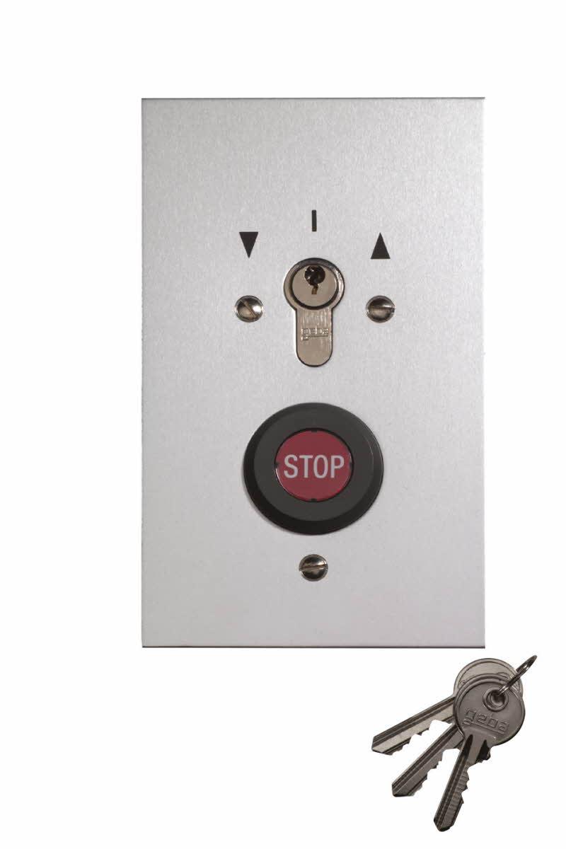 Sommer Schlüsselschalter im Metallgehäuse; Unterputz