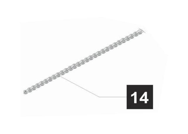 14. Sommer Kette 293 Glieder, Bewegungshub 3400 mm ,marathon SL 550, 800, 1100