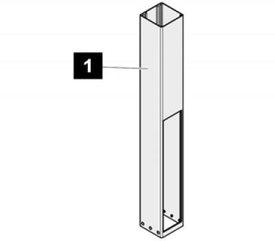 1. Sommer Pfosten 1250 mm (Eisenglimmer DB 703), SP 900