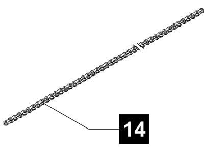 14. Sommer Kette 233 Glieder, Bewegungshub 2600 mm, sprint evolution