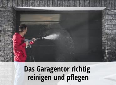 Garagentore reinigen & pflegen