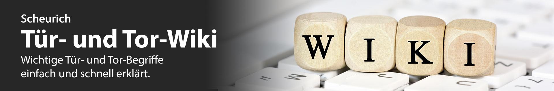 Scheurich Tür- und Tor-Wiki Banner
