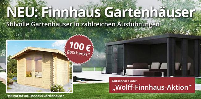 Finnhaus Gartenhaus Banner