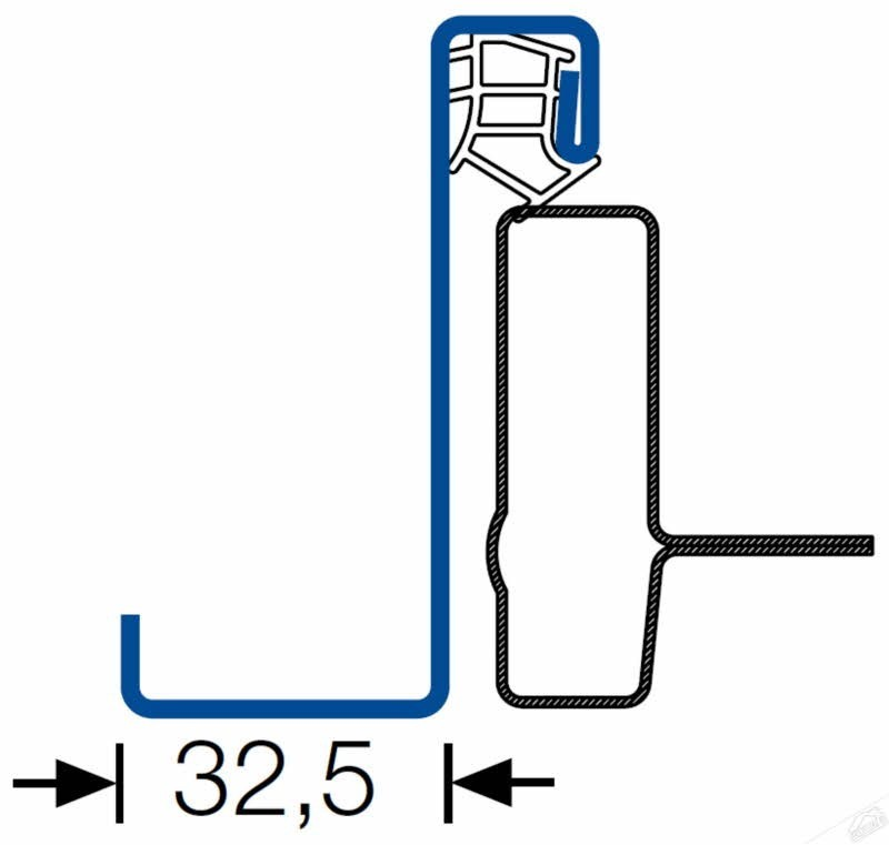 Hörmann Nebentüre Zarge 1-flg