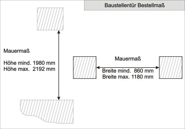 Einbaumaße türen  Scheurich Bautür Baustellentür mit » Scheurich24.de