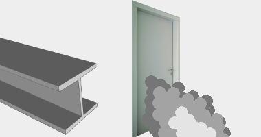 Stahl-Rauchschutztueren