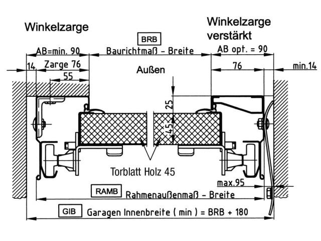 novoferm novoport holz sektionaltor typ iso 45 modell rom. Black Bedroom Furniture Sets. Home Design Ideas