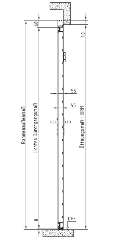 Tür vertikalschnitt  Novoferm Garagen-Nebentüre ISO45, » Scheurich24.de