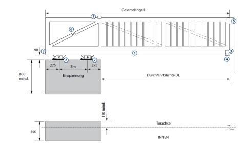 Tousek Laufwerk Rollco LWA 115 Aufbau