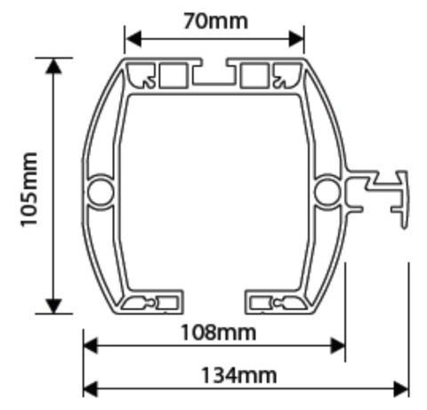 Tousek Laufprofil Rollco LWA 115 Profilmaße